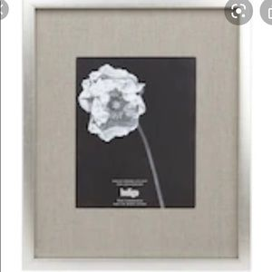 Brushed Silver gallery frame with mat